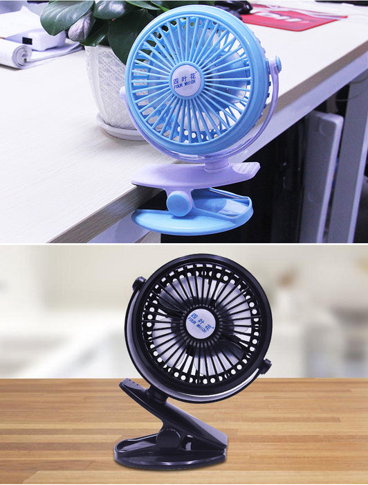 Rechargeable Operated Clip on Mini Desk USB Fan for Home Office Baby Stroller Car Laptop Study Table Gym Camping Tent