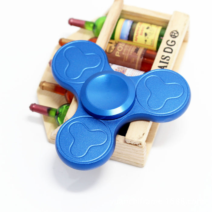Tri-Spinner Fidget Spinner Focus Toy Stress Reducer for Kid and Adult [Premium Bearing] Easy Flick, Spin single/both Hands Finger Prime Figit Toys Perfect For ADHD, Anxiety, Autism