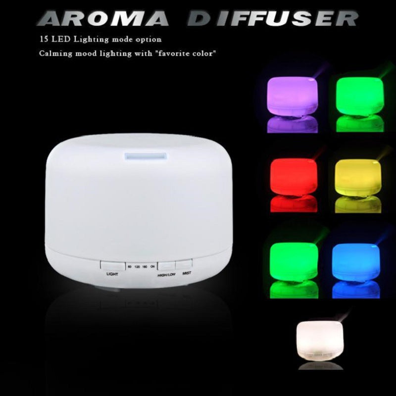 500ml Aromatherapy Essential Oil Diffuser Humidifier with 4 Timer Settings, 7 LED Color Changing Lamps and Waterless Auto Shut-off