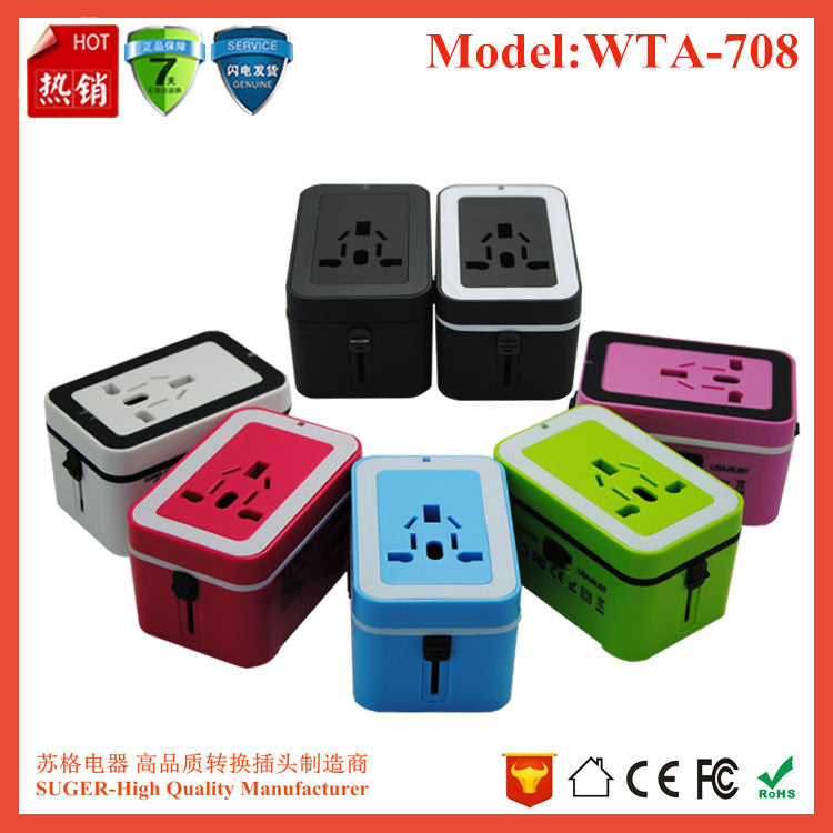 e49990d1a26999 ... Travel Adapter,Universal International All-in-One Worldwide Travel  Adaptor Wall Charger AC ...