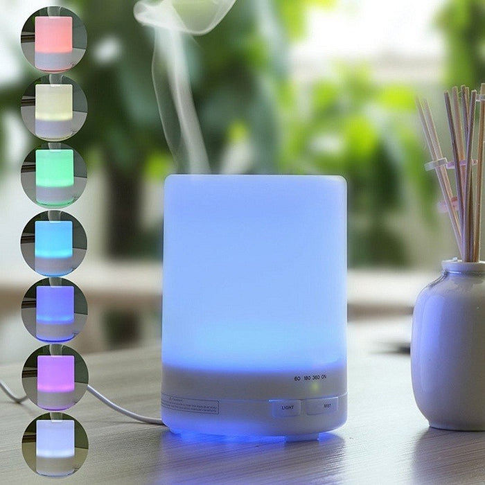 300ml Essential Oil Diffuser, Aromatherapy Ultrasonic Mist Air Humidifier with Color-changing LED Lights - Auto off When Waterless - Portable for Home, Yoga, Office, Spa, Baby Room, Etc.