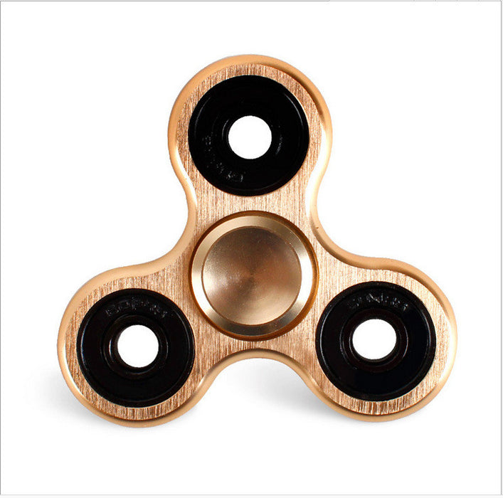Fidget Spinner,Aluminum Alloy Tri-Spinner Fidget EDC Hand Toy Anti-Anxiety Fidget Spinner For Relieveing ADHD,ADD,Autism,Relax,Focus,Intellectual Development Good