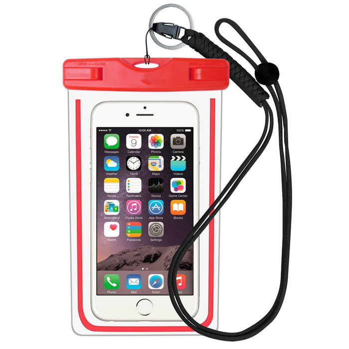 Premium Quality Universal Waterproof Case with Armband, Compass, Lanyard - Best Water Proof, Dustproof, Snowproof Pouch Bag for iPhone 7, 6S, 6, Plus, 5S, Samsung Galaxy Phone S7, S6