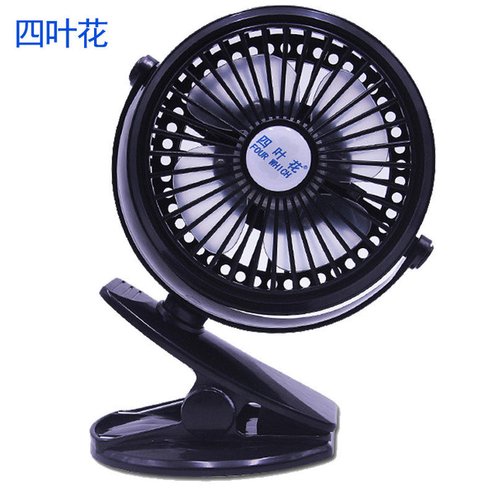 Mini Battery Operated Clip Fan, Portable Fan Powered by Rechargeable Battery or USB Desk Personal Fan for Baby Stroller Car Gym Workout Camping,Blue