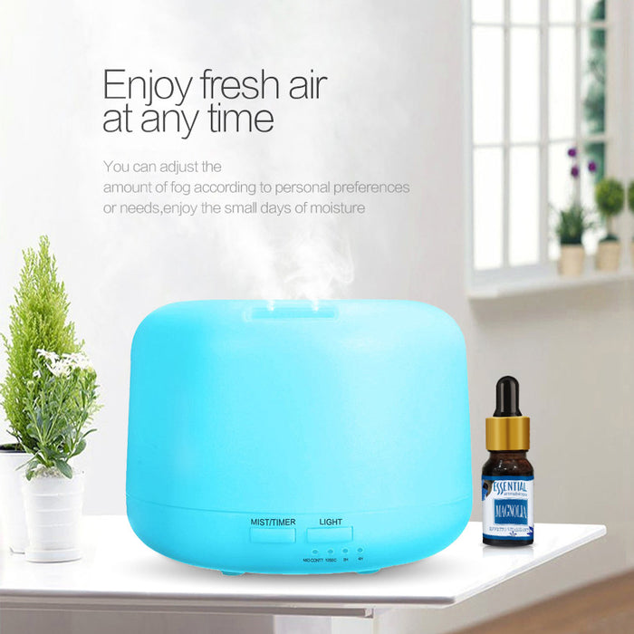 300ml Aromatherapy Essential Oil Diffuser Humidifier with 3 Timer Settings Waterless Auto Shut-off and 7 LED Color Changing Lamps