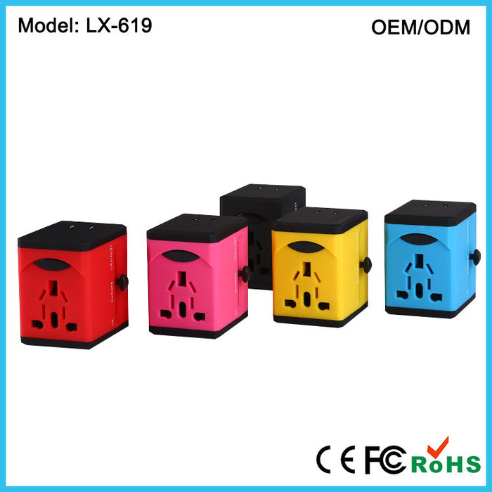Travel Adapter and Charger - USB Charging Ports - Super Fast Charging - All International Standard Cell Phone/Desktop/Laptop/Touch Screen Tablet/Computer/GPS Chargers