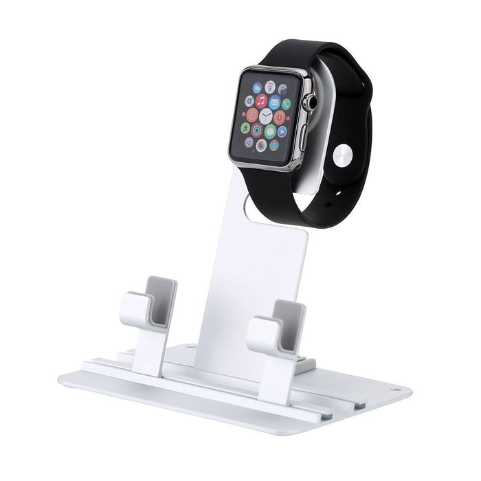 Apple Watch Stand, 2 in 1 Aircraft Aluminum Charging Stand Docking Station Bracket Cradle Holder for Apple watch,iPhone and iPad