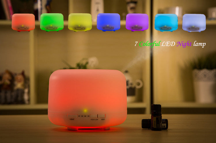 Essential Oil Diffuser 500ML Aromatherapy Diffuser with 7 LED Color Light Changing Mute Design Aroma Diffuser 4 Timer Setting Cool Mist oil diffuser Waterless Auto Shut-off for Home Office