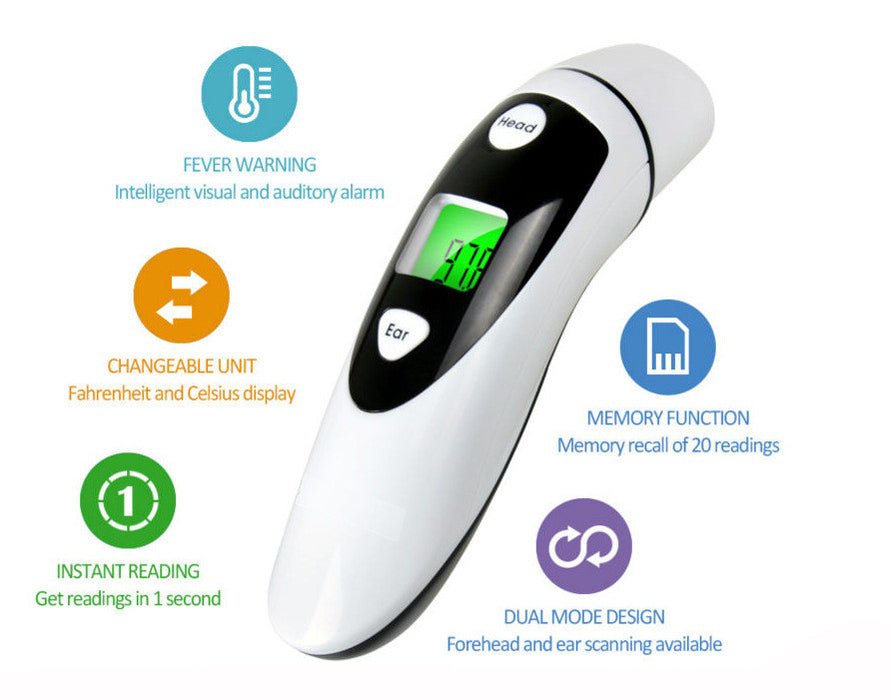 Clinical Forehead Thermometer FDA Approved Instant Read Sensor for Digital Fever Measurement Temporal Professional No Touch Readings Baby Adult & Children Best Infrared Scanner