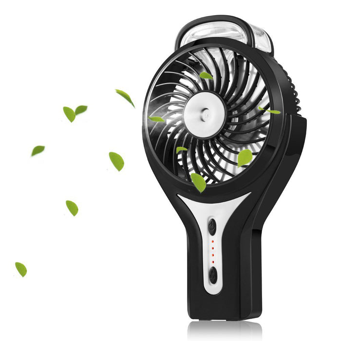 Misting Fan Mini USB Handheld Humidifier Mist Water Spray Air Condictioning Moisturizing Fan Portable Face Spray Mist Humidifier