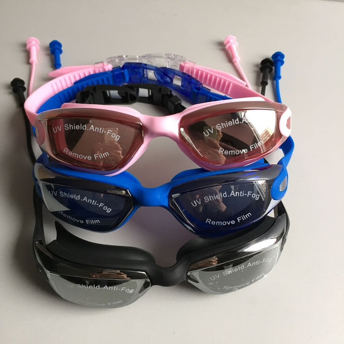 Swim Goggles, Swimming Goggles No Leaking Anti Fog UV Protection Triathlon Swim Goggles with Free Protection Case for Adult Men Women Youth Kids Child