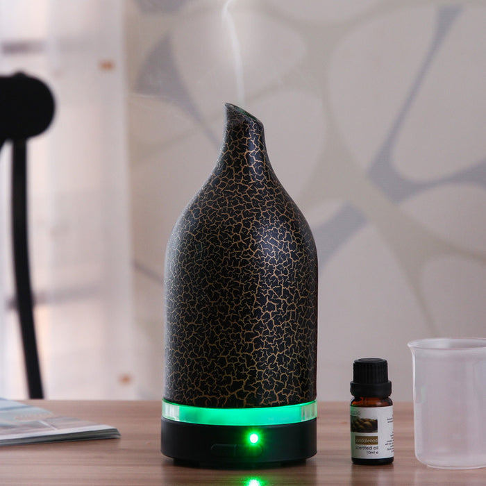 100ml Aromatherapy Essential Oil Diffuser Humidifier Room Decor Lighting with 4 Timer Settings, 7 LED Color Changing Lamps and Waterless Auto Shut-off