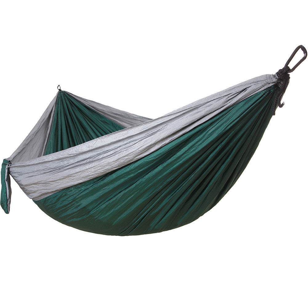 Camping Hammock – Ultralight Nylon Portable Parachute, Best for Light Backpacking Survival Beach Travel & Backyard Fun – Tree Ropes and Carabiners Included