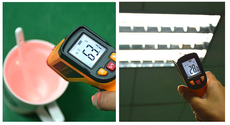 Non-contact Digital Laser Infrared Thermometer Temperature Gun -58℉~ 716℉ (-50℃ ~ 380℃), Yellow and Black