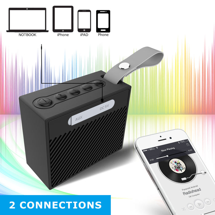 IP66 Waterproof Bluetooth Speaker with 24-Hour Playtime, 66-Foot Bluetooth Range & Built-in Mic, Dual-Driver Portable Wireless Bluetooth 4.2 Speaker with selfie Mic for iPhone, Samsung and More