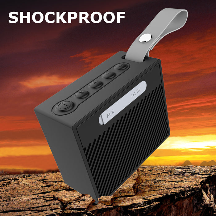 IP66 Waterproof Bluetooth Speaker,Portable Wireless Outdoor and Shower Speaker with Build-in Microphone ,selfie and 3.5mm Audio Input for iPhone, Samsung and More