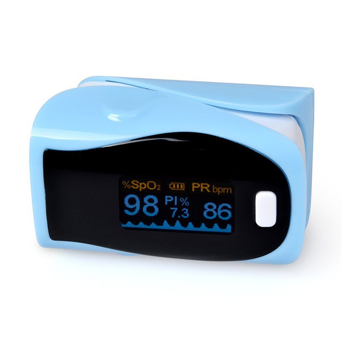 Fingertip Pulse Oximeter Blood Oxygen Saturation Monitor with batteries and lanyard included