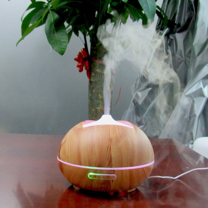 300ml Cool Mist Humidifier Ultrasonic Aroma Essential Oil Diffuser for Office Home Bedroom Living Room Study Yoga Spa - Wood Grain