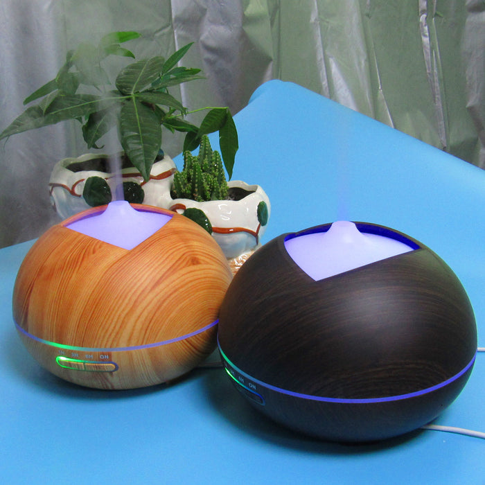 350ml Essential Oil Diffuser, Beeiee 350ml 7 Color Wood Grain Cool Mist Humidifier Ultrasonic Aroma Essential Oil Diffuser for Office Home Bedroom Living Room Study Yoga Spa