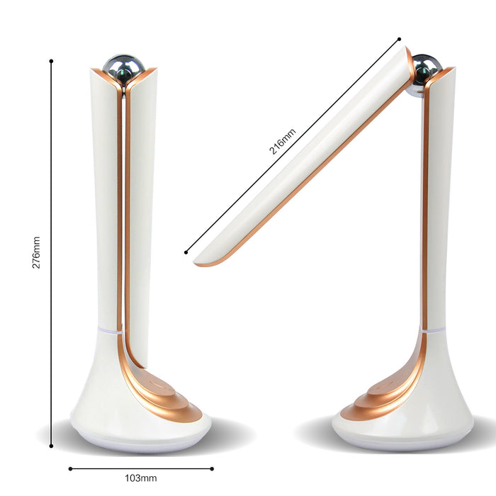 Desk Lamp,Eye-care LED 3 Dimming Levels Table Lamp, Touch Control Natural light Reading Lamps With USB Charging Port,Portable Folding bed Lamps 4.5W