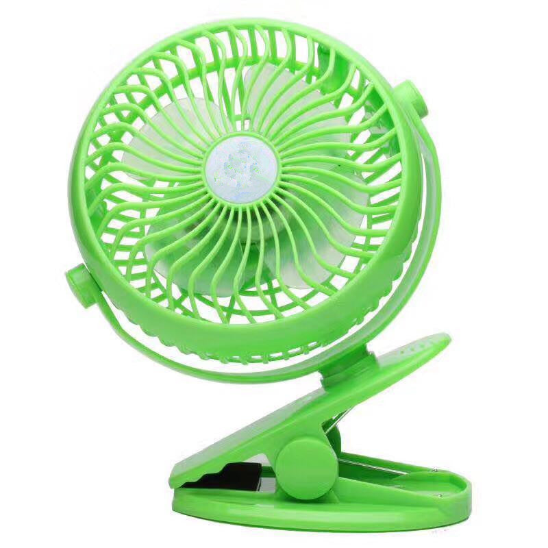 USB Fan Mini Clip On Desk Fans Rechargeable and 2600mAh Battery Powered for Baby Stroller, Metal Design and 4.9ft USB Cable