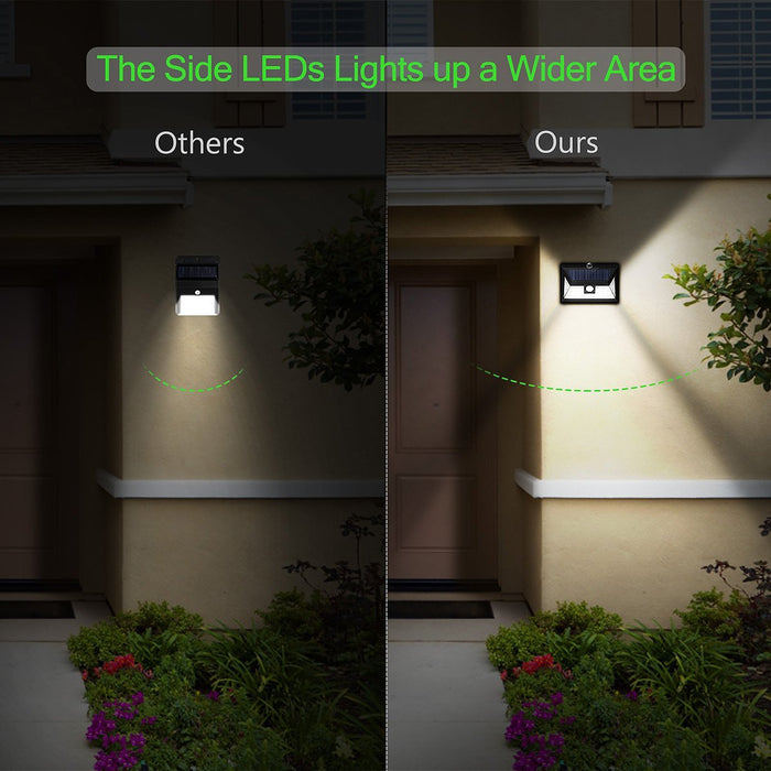 24 LED SOLAR LIGHTS OUTDOOR, Super Bright Motion Sensor Lights with Wide Angle Illumination, Wireless Waterproof Security Lights for Wall, Driveway, Patio, Yard, Garden- 2 PACK
