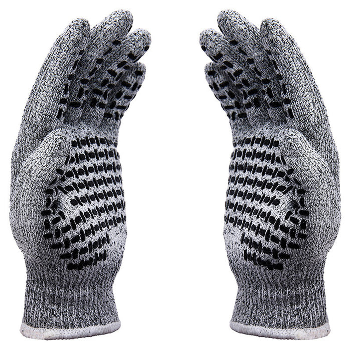 Cut Resistant Gloves with Grip Dots - High Performance Level 5 Protection, Food Grade. Size Small, Free Ebook Included!