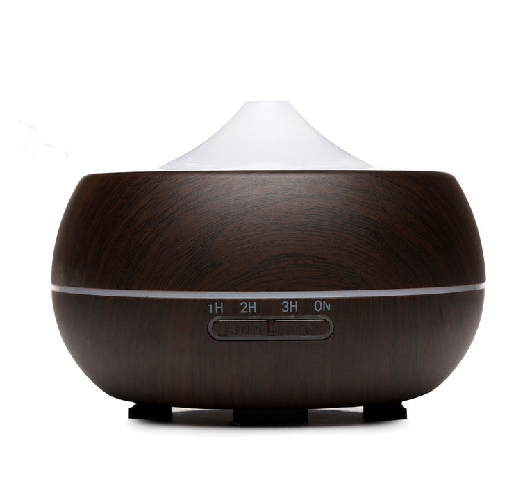Essential Oil Diffuser, 300ml Aroma Wood Grain Ultrasonic Cool Mist Humidifier with Adjustable Mist for Office Home Room Study