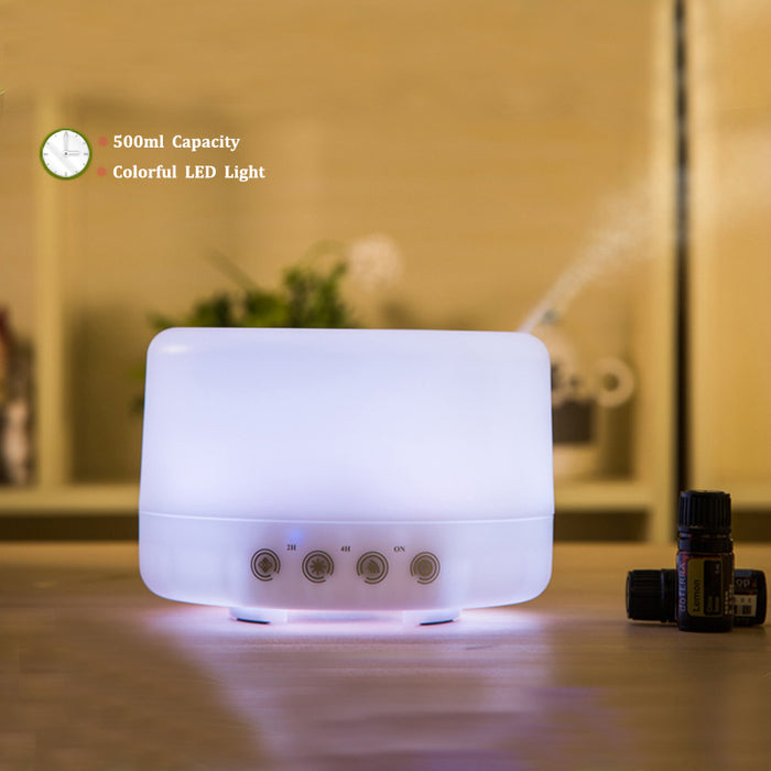 500ML Essential Oil Diffuser Humidifiers Ultrasonic Aromatherapy Diffusers Cool Mist Whisper