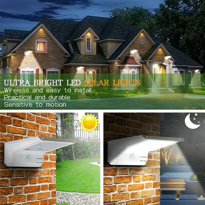 Solar Lights,20 LED Outdoor Solar Motion Sensor Lights ,Solar Powered Wireless Waterproof Exterior Security Wall Light for Patio,Deck,Yard,Garden,Path,Home,Driveway,Stairs,NO DIM MODE(1Pack)