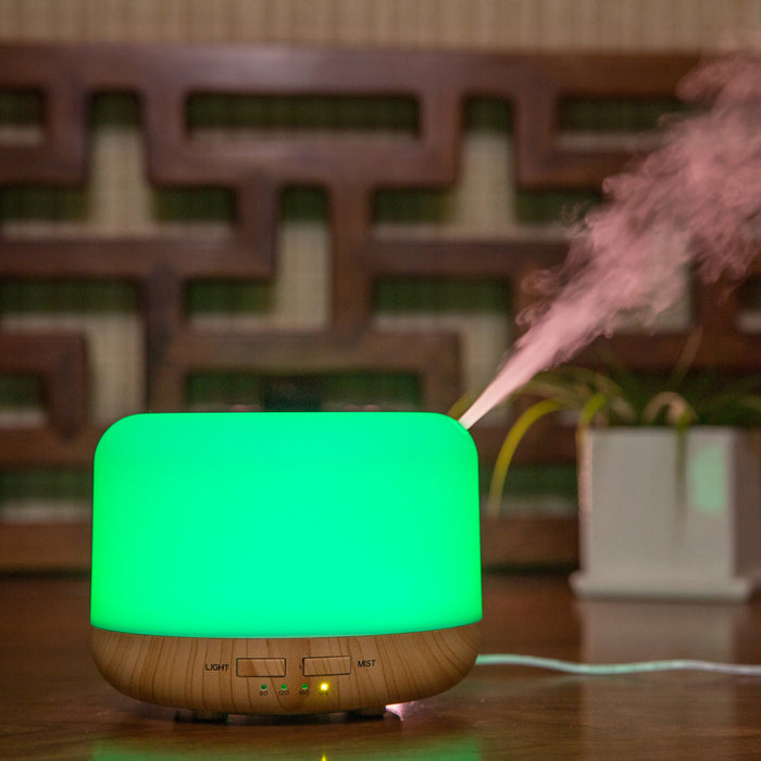 300ml Premium, Essential Oil Diffuser, 5 In 1 Ultrasonic Aromatherapy Fragrant Oil Vaporizer Humidifier, Timer and Auto-Off Safety Switch, 7 LED Light Colors