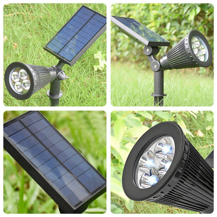 Solar Lights 2-in-1 Solar Powered 7 LED Adjustable Spotlight Wall Light Landscape Light Bright & Dark Sensing Auto On/Off Security Night Lights for Patio Yard Stairs Pool 2 PACK
