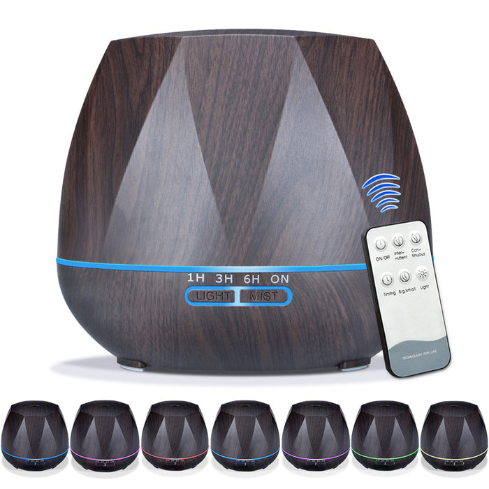 500ml Essential Oil Diffuser, Reduce Noise Design - Quieter, Longer Mist Output Time 7-14 Hours Ultrasonic Aroma Diffuser with Waterless Auto-off, 7-Color LED Soft Light for Home, Office