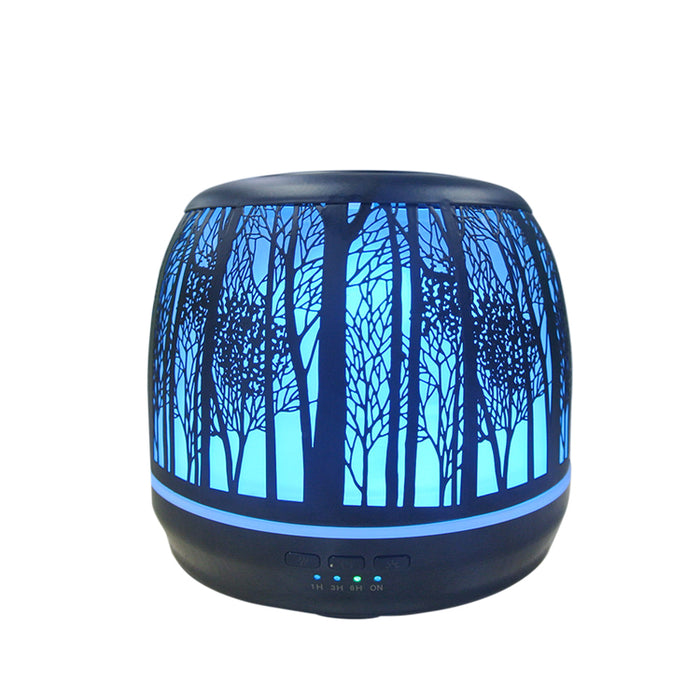 Diffusers for Essential Oils, Premium Iron Aromatherapy Diffuser with Large 500mL Water Tank for Home, Office, Kitchen, Baby Room Air Oil Ultrasonic Humidifier with 7 Color LED Lights