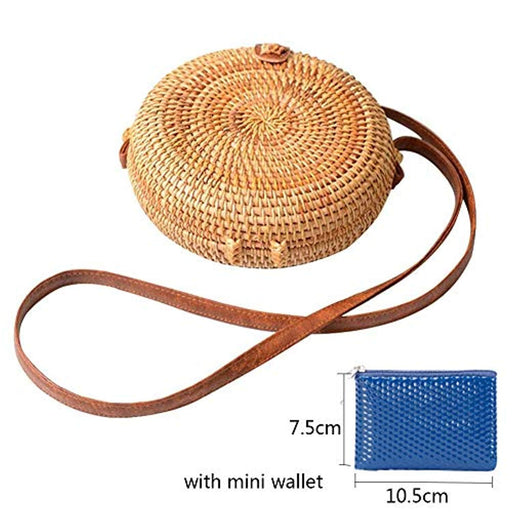 Exquisite Straw Bag Women Rattan Woven Shoulder Handbag Summer Beach Crossbody Bag