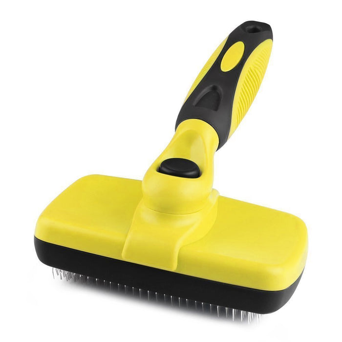 Self Cleaning Slicker Brush,Dog Brush for Grooming,Removes Tangled Knots,Mats,Undercoat and Loose Hair with Minimal Effort,Easy to Clean,Fits Small,Large Dog and Cat,Short and Long Hair