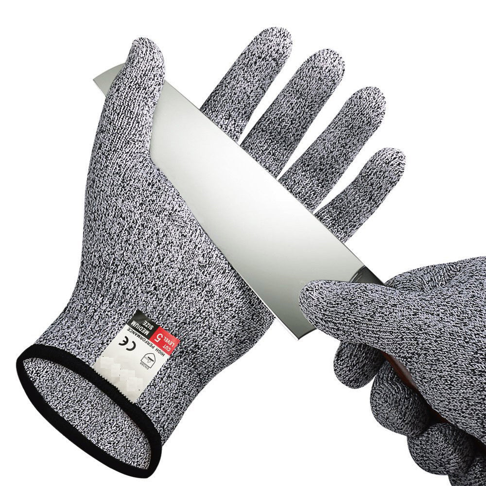 Cut Resistant Gloves - High Performance Level 5 Protection, Food Grade. Size Small, Free Ebook Included!