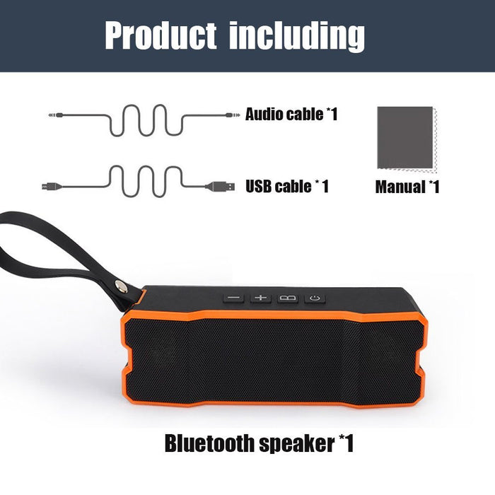 Bluetooth Speaker Portable Waterproof Wireless Speaker with 10W Stereo Sound, Dual-Driver for iPhone, iPad and Tablet