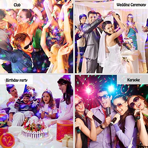 Party Lights Disco Ball Sound Activated Disco lights Party Light 3W LED Strobe Light with Remote Control for Bar Club DJ Karaoke Wedding Show Birthday Decoration