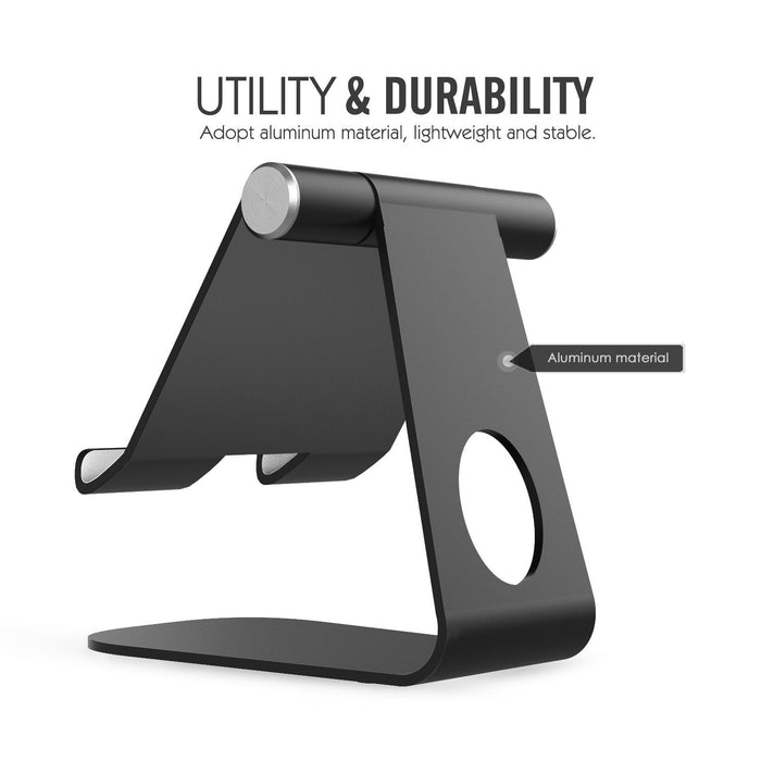 Tablet Stand,  Adjustable iPad Stand, Universal Multi-Angle Rotating Desktop Stand Holder Dock for iPad Air 2 3 4 Pro mini, Nexus, Kindle, Samsung Tab, E-reader, Android Tablets 4-10 inch