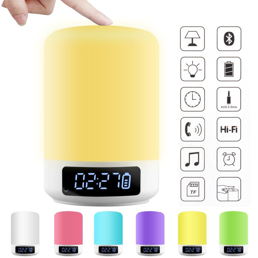 Led Bedside Lamp Smart Touch Wireless Bluetooth Speaker Dimmable Color Appreciis