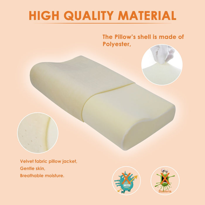 Contour Memory Foam Pillow,Best Sleep Innovations Cervical Pillows for Neck Pain,Neck Support Pillow ,Micro-Vented Soft Bed Pillow and Washable Pillow Case