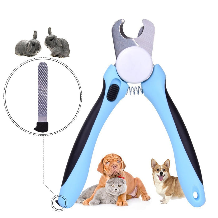 Dog Nail Clippers and Trimmer By - With Safety Guard to Avoid Over-cutting Nails & Free Nail File - Razor Sharp Blades - Sturdy Non Slip Handles - For Safe, Professional At Home Grooming