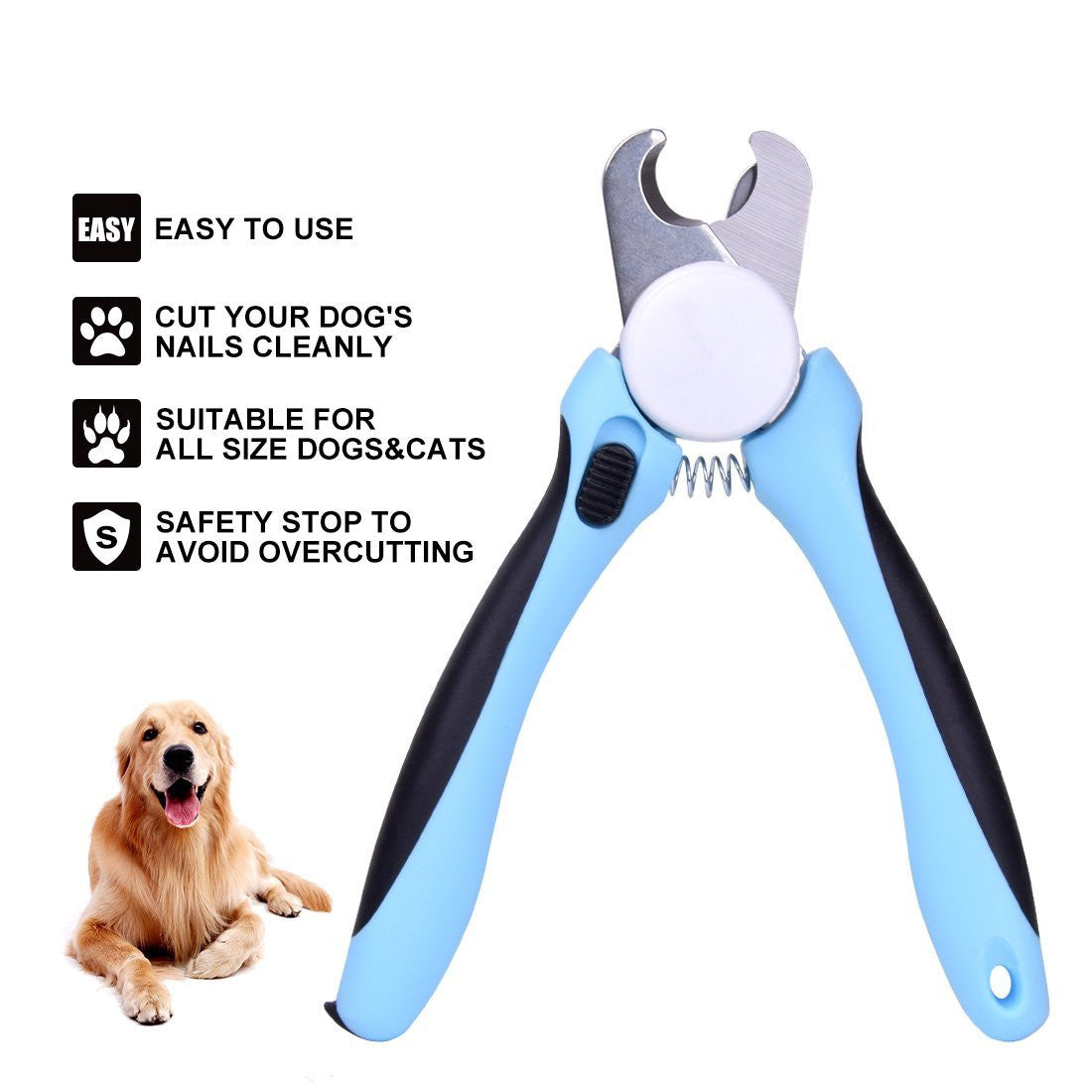 Dog Nail Clippers and Trimmer By - With Safety Guard to Avoid Over ...