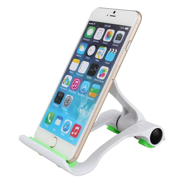 "Tablet and Cell Phone Stand Holder, Multi-Angle, Durable, Anti-Slip, Landscape and Portrait, made for: Apple iPad, iPhone, Kindle, Samsung Galaxy Tab and Any Devices from 4""-12"""