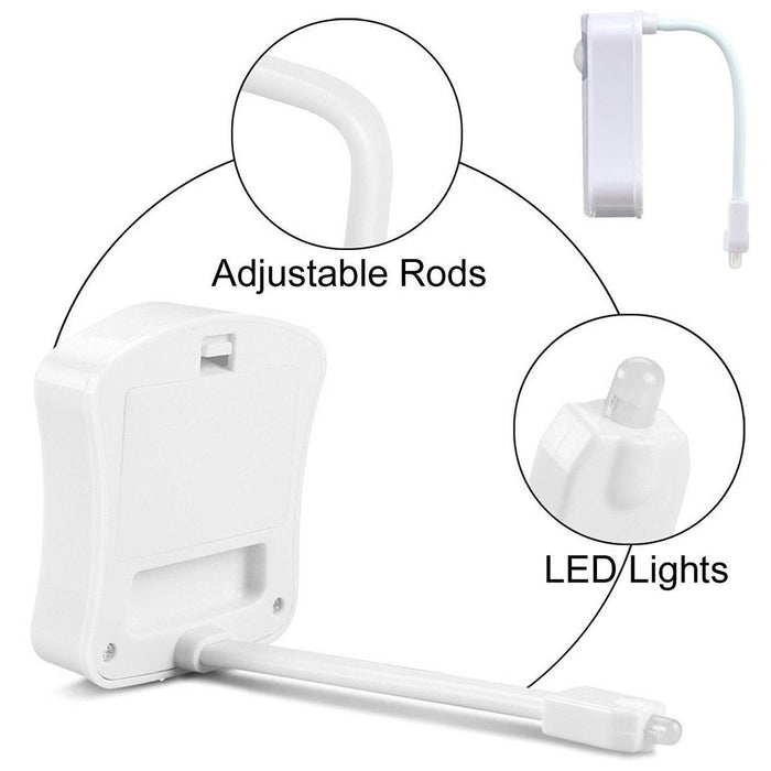 Colorful Motion Sensor Toilet Nightlight ,Home Toliet Bathroom Human Body Auto Motion Activated Sensor Seat Light Night Lamp 8-Color Changes