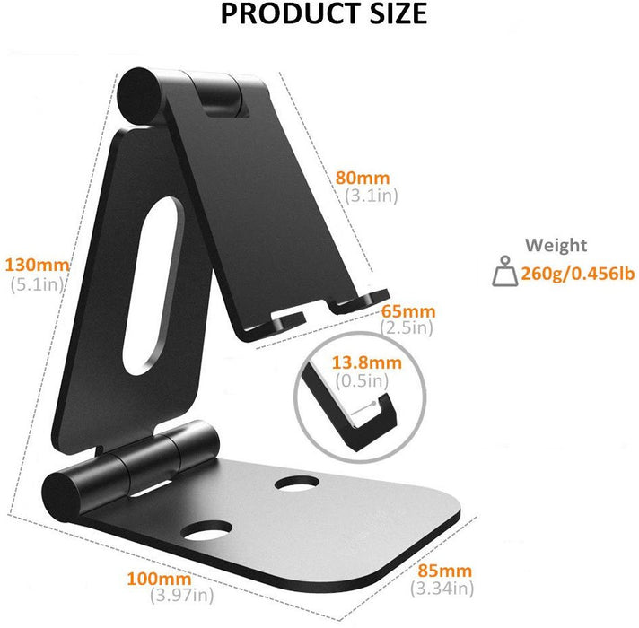 Foldable Aluminum Stand Multi-Angle Stand for Nintendo Switch, iPhones, iPad Universal for All Other Tablets Phones