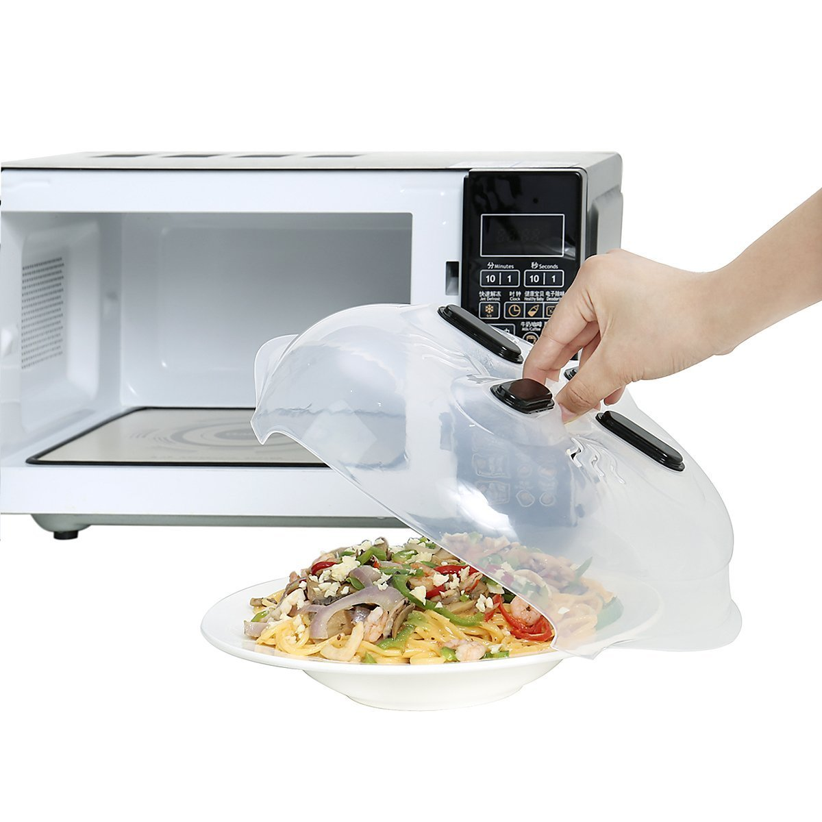 Magnetic Microwave Splatter Cover, Microwave Plate Guard Lid With Steam Vent