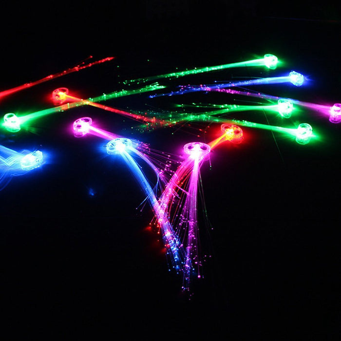 LED Lights Hair, Light-Up Fiber Optic LED Hair Barrettes Party Favors for Party, Bar Dancing Hairpin, Hair Clip, Multicolor Flash Barrettes Clip Braid, 12 Pack