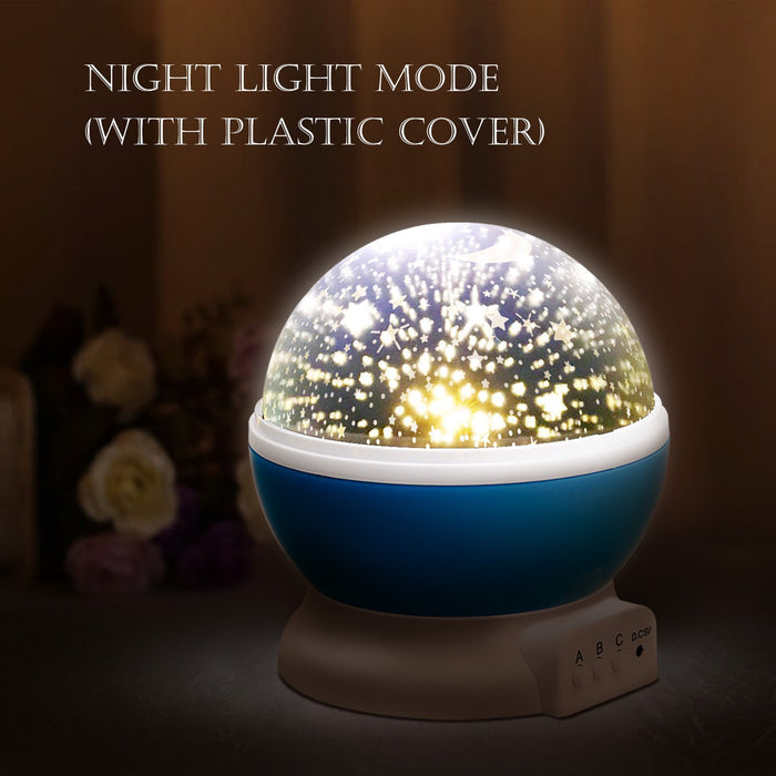 NEW GENERATION Baby Night Lights for kids, Starry Night Light Rotating Moon Stars Projector, 9 Color Options Romantic Night Lighting Lamp, USB Cable / Batteries Powered for Nursery, Bedroom